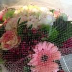bouquet rond en camaieu de rose